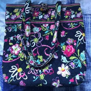 Authentic Vera Bradley Floral Quilted Tote Purse.